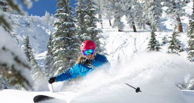 Powder at Alta Ski Resort in Utah